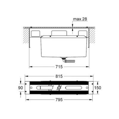 GROHE - Grohe 4 5 Delikli Küvet Bataryası İçin Montaj Plakası - 29037000 (1)