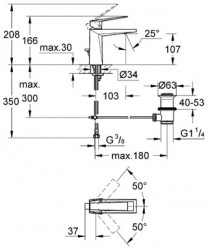 Grohe Allure Brilliant Tek Kumandalı Lavabo Bataryası - 23029000 - Thumbnail