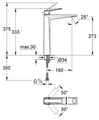 Grohe Allure Brilliant Tek Kumandalı Çanak Lavabo Bataryası - 23114000