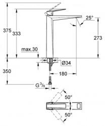 Grohe Allure Brilliant Tek Kumandalı Çanak Lavabo Bataryası - 23114000 - Thumbnail