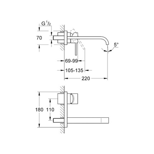 Grohe Allure İki Delikli Lavabo Bataryası - 19386000
