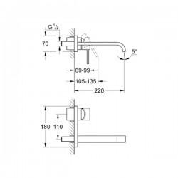 Grohe Allure İki Delikli Lavabo Bataryası - 19386000 - Thumbnail