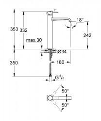 Grohe Allure Single Tek Kumandalı Çanak Lavabo Bataryası - 23403000 - Thumbnail