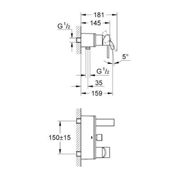 Grohe Allure Tek Kumandalı Banyo Bataryası - 32826000