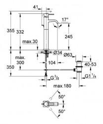 Grohe Çanak Lavabo Bataryası Allure XL-Boyut Krom - 32760000 - Thumbnail