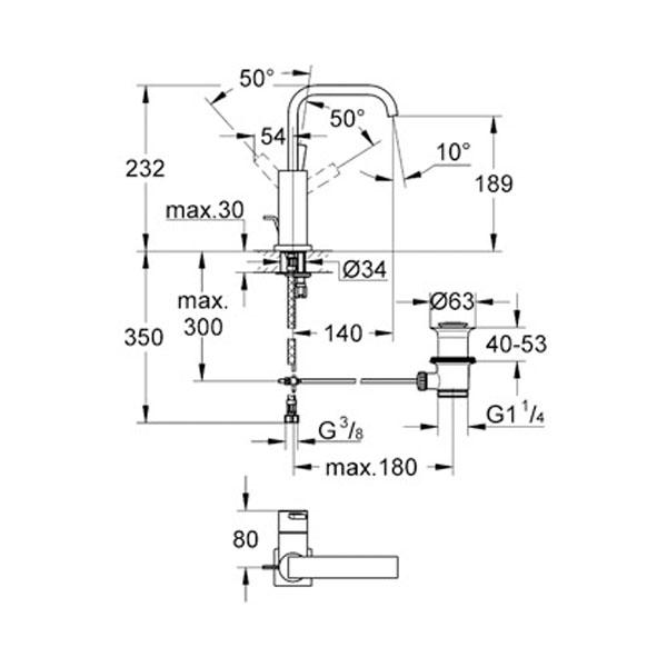 Grohe Allure Tek Kumandalı Lavabo Bataryası - 32146000