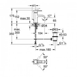 Grohe Allure Tek Kumandalı Lavabo Bataryası - 32757000 - Thumbnail