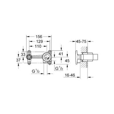 GROHE - Grohe Ankastre Duvardan Lavabo Bataryası İç Gövdesi - 33769000 (1)