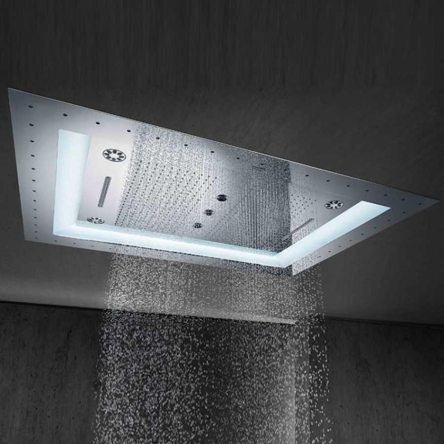 Grohe Rainshower F-Series Aquasymphony 8 Akışlı, Değişken Işıklı Ankastre Tepe Duşu