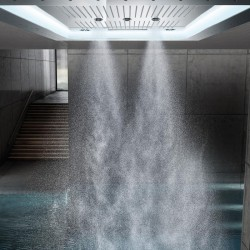 Grohe Rainshower F-Series Aquasymphony 8 Akışlı, Değişken Işıklı Ankastre Tepe Duşu - Thumbnail