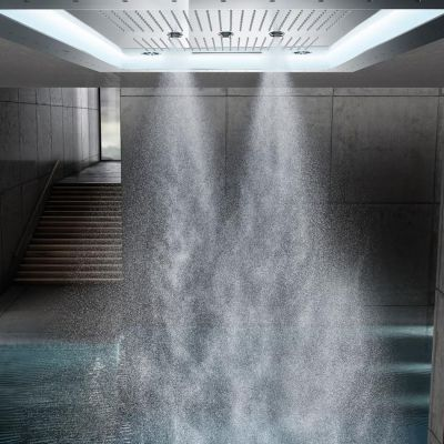 GROHE - Grohe Rainshower F-Series Aquasymphony 8 Akışlı, Değişken Işıklı Ankastre Tepe Duşu (1)