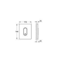 Grohe Arena Cosmopolitan Ankastre Mekanik Manuel Pisuar Sistemi Kumanda Panelida Paneli - Thumbnail