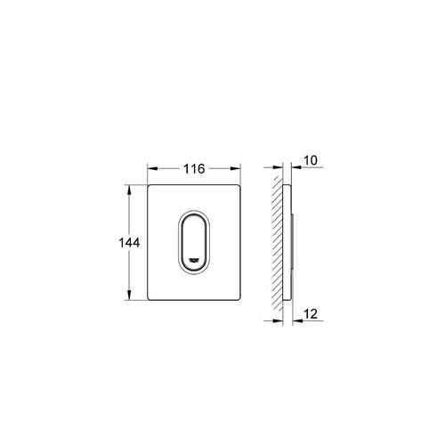 Grohe Ankastre Pisuar Valf Paneli Manuel ABS Mat Krom - 38857P00