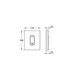 Grohe Ankastre Pisuar Valf Paneli Manuel ABS Mat Krom - 38857P00 - Thumbnail