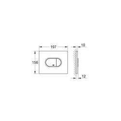Grohe Gömme Rezervuar Kumanda Paneli Yatay ABS Beyaz - 38858SH0 - Thumbnail