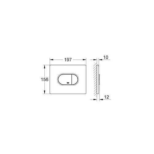 Grohe Gömme Rezervuar Kumanda Paneli Yatay ABS Mat Krom- 38858P00