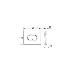 Grohe Gömme Rezervuar Kumanda Paneli Yatay ABS Mat Krom- 38858P00 - Thumbnail