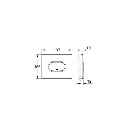 Grohe Arena Cosmopolitan Gömme Rezervuar Kumanda Paneli - 38858000