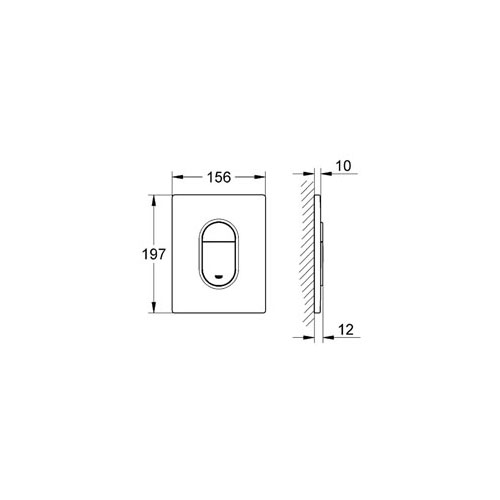 Grohe Gömme Rezervuar Kumanda Paneli ABS Krom - 38844000