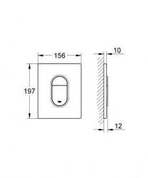 Grohe Gömme Rezervuar Kumanda Paneli ABS Beyaz - 38844SH0 - Thumbnail