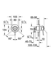 Grohe BauClassic Ankastre Duş Bataryası - 29048000 - Thumbnail