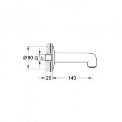 Grohe Bauclassic Çıkış Ucu - 13258000 - Thumbnail