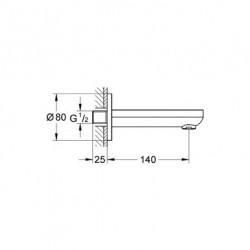 Grohe Bau Çıkış Ucu - 13255000 - Thumbnail