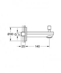 Grohe Bau Yöndeğiştiricili Çıkış Ucu - 13257R00 - Thumbnail
