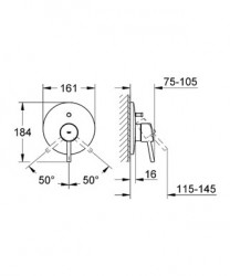 Grohe Concetto Ankastre Banyo Duş Bataryası - 19346001 - Thumbnail