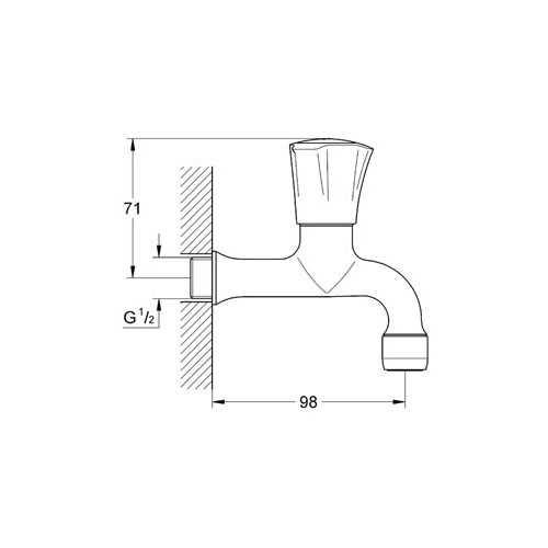 Grohe Costa L Duvardan Tek Musluk Kısa 98 mm - 30098001