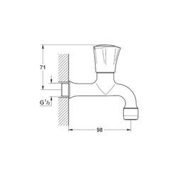Grohe Costa L Duvardan Tek Musluk Kısa 98 mm - 30098001 - Thumbnail