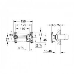 Grohe Duvardan Lavabo Bataryası İçin Ankastre İç Gövde - 32635000 - Thumbnail