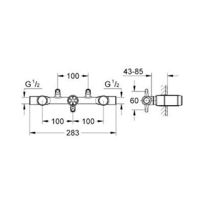 GROHE - Grohe Duvardan Lavabo Bataryası İçin Ankastre Duvar İç Gövdesi - 29025000 (1)