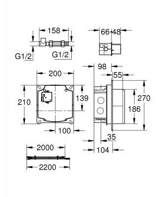 GROHE - Grohe Duvardan Fotoselli Lavabo Bataryası İç Gövdesi - 36264001 (1)