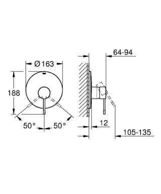 Grohe Essence New Ankastre Duş Bataryası - 19286001