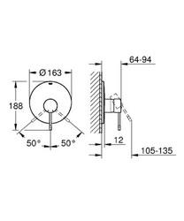 Grohe Essence New Ankastre Duş Bataryası - 19286001 - Thumbnail