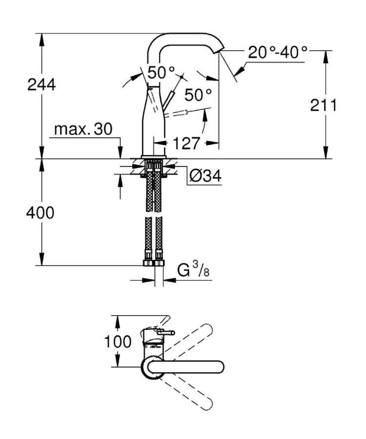 Grohe Essence Tek Kumandalı Lavabo Bataryası - 23541001
