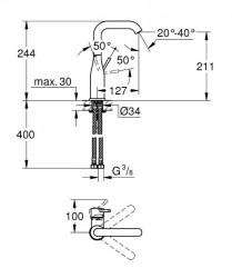 Grohe Essence Tek Kumandalı Lavabo Bataryası - 23541001 - Thumbnail