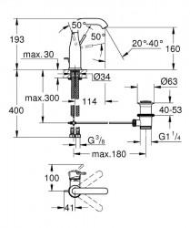 Grohe Lavabo Bataryası Essence M-Boyut Krom - 23462001 - Thumbnail