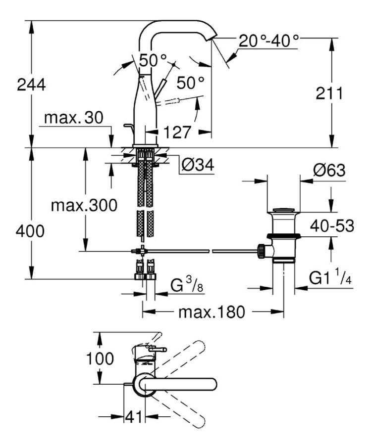 Grohe Essence Tek Kumandalı Lavabo Bataryası - 32628001