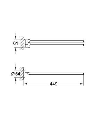 Grohe Essentials İkili Havluluk - 40371001