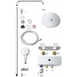 Grohe Euphoria SmartControl System 260 Mono Duvara Monte Termostatik Bataryalı Duş Sistemi - Thumbnail