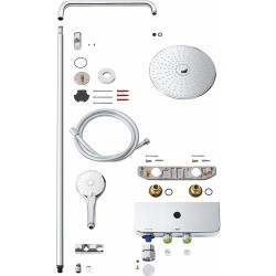 Grohe Euphoria SmartControl System 260 Mono Duvara Monte Termostatik Bataryalı Duş Sistemi - 26509000 - Thumbnail