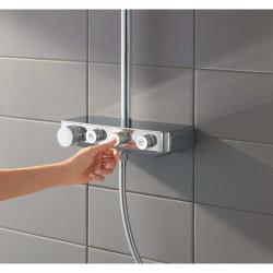 Grohe Euphoria SmartControl System 310 Duo Duvara Monte Termostatik Bataryalı Duş Sistemi - 26507000 - Thumbnail