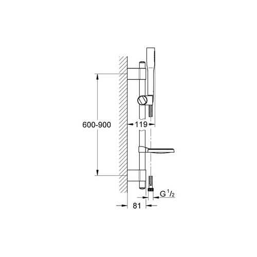 Grohe Euphoria Stick Cosmopolitan Sürgülü Duş Seti 1 Akışlı - 27368000