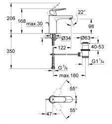 Grohe Eurocosmo Tek Kumandalı Lavabo Bataryası - Thumbnail