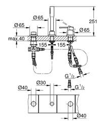 Grohe Essence 3 Delikli Küvet Bataryası - 19976001 - Thumbnail