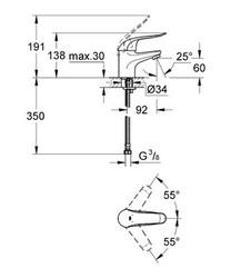 Grohe Lavabo Bataryası Engelli Kullanımına Uygun Krom - 32762000 - Thumbnail