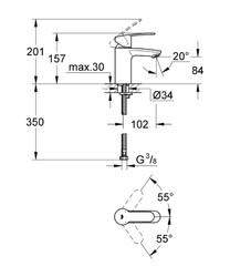 Grohe Eurostyle Cosmopolitan Tek Kumandalı Lavabo Bataryası S-Boyut - 3246820E - Thumbnail