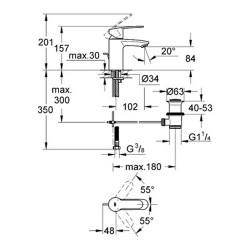 Grohe Eurostyle Cosmopolitan Tek Kumandalı Lavabo Bataryası - 33552002 - Thumbnail